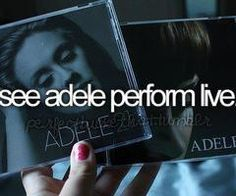 see adele perform live