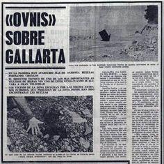 La primera noticia en la prensa sobre los ovnis de Gallarta.