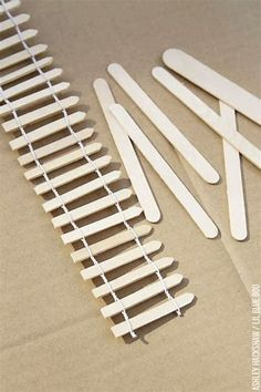 Image result for Popsicle Stick Fence