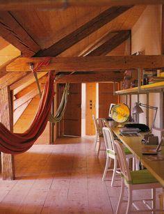 hammocks in the attic craft room