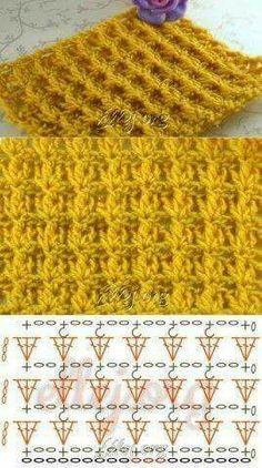 Watch This Video Beauteous Finished Make Crochet Look Like Knitting (the Waistcoat Stitch) Ideas. Amazing Make Crochet Look Like Knitting (the Waistcoat Stitch) Ideas. Crochet Stitches Chart, Crochet Motifs, Crochet Diagram, Tunisian Crochet, Diy Crochet, Crochet Squares, Granny Squares, Knitting Patterns, Crochet Patterns