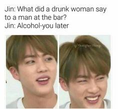 Lol Jin and his dad jokes - BTS Bts Jin, Exo Bts, Kookie Bts, Bts Bangtan Boy, Jimin, Jin Dad Jokes, Puns Jokes, Seokjin, Btob