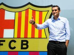 Ernesto Valverde, el día de su presentación como nuevo entrenador del Barça