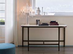 Consolle in rovere con piano in marmo VICTORIA by Lema design Roberto Lazzeroni