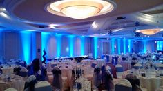 Wedding Reception at the Holiday Inn Suites in St. St Catharines, Wedding Receptions, Dj, Chandelier, Ceiling Lights, Lighting, Holiday, Home Decor, Candelabra