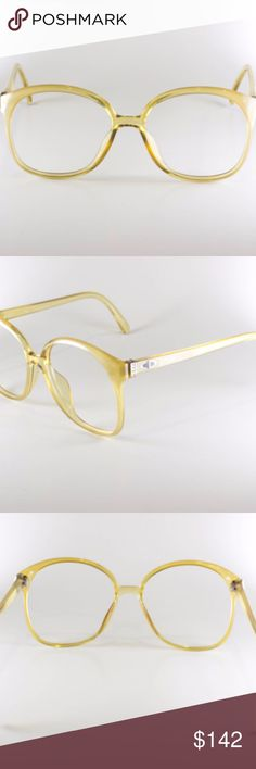 Christian Dior 2263 20 Vintage Eyeglasses Authentic Christian Dior 2263 20 Optyl Made In Austria CE 55-15 Unisex Vintage Frames Vintage Eyeglasses Yellow NOS Deadstock   Vintage Eyeglasses or Sunglasses Frames: - Christian Dior 2263 20 Optyl  - Made in Austria - Yellow frames - Perfect as vintage sunglasses or vintage eyeglasses - Size: 55-15  - Excellent vintage condition - New Old Stock (NOS)  - You're buying the frame to fill with your prescription Christian Dior Accessories Glasses