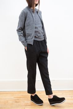 Black Jacquard Pullon Pant