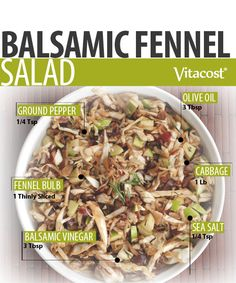 Sweet Balsamic Fennel Salad #Recipe @Matt Nickles Valk Chuah Healthy Apple #Vitacost