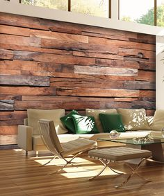Look what I found on #zulily! Reclaimed Wood Wall Mural #zulilyfinds