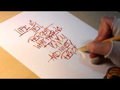 Quote with folded pen - YouTube