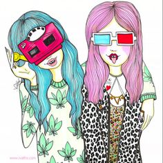 Valfre - From what I've seen, this artist's themes are very teenaged and surface but I do like the style of her illustrations.