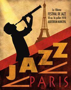 Jazz in Paris, 1970 Posters van Conrad Knutsen bij AllPosters.nl