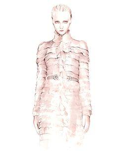 Alexander McQueen F/W 2016 fashion illustration by António Soares