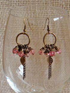 Brincos Argola Rosa - Pink Hoop Earrings | Beat Bijou | Elo7