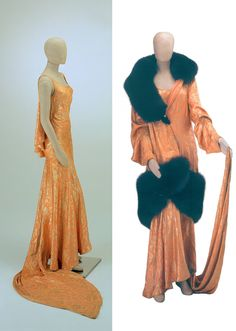 Evening ensemble, by Gori, Turin, 1930. Belonged to Queen Maria-José of Italy.
