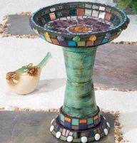Make a Bird Bath using clay pots