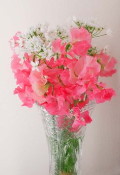Larger Flower arrangement of sweet pea for entry table