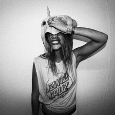 onlyifthereislollies: This is a picture by @mitchrevs featuring me getting crazy with a unicorn head!