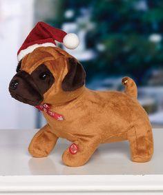 This Santa Puppy Figurine is perfect! #zulilyfinds