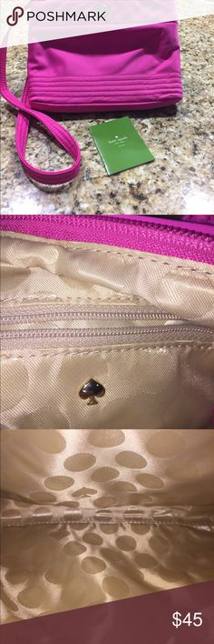 Kate spade pouchette Up for sale is a Kate Spade pink bag, this bag is in very nice condition, little wear kate spade Bags Satchels
