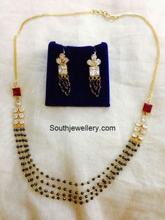 Mangalsutra latest jewelry designs - Page 3 of 31 - Indian Jewellery Designs Indian Jewellery Design, Bead Jewellery, Indian Jewelry, Beaded Jewelry, Jewelry Design, Indian Necklace, Antique Jewellery, Diamond Jewellery, Diamond Mangalsutra