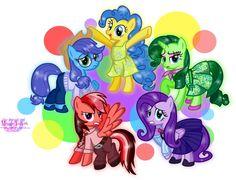 #982434 - anger, applejack, artist:meganlovesangrybirds, disgust, fear, fluttershy, inside out, joy, pinkie pie, ponified, rainbow dash, rarity, sadness, safe, simple background, transparent background - Derpibooru - My Little Pony: Friendship is Magic Imageboard