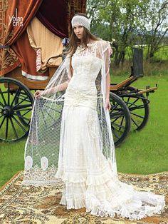 Vintage-Bohemian Wedding Dresses