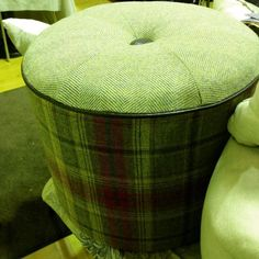 Footstool heaven #purenewwool various colour combo options to fit with your decor.  Beautiful blues rich reds and groovy greens. Perfect extra seating too!