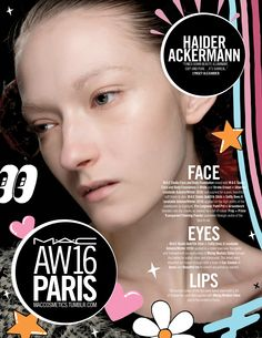 M·A·C Backstage at Haider Ackermann AW16 PFW. Get this illuminant look with Studio Face and Body Foundation!