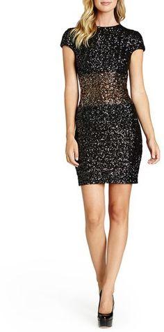 f2bce056e9 Dress the Population  Simone  Colorblock Sequin Minidress. Kaderique · Glitz  and Glam