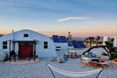 Stay at one of these Airbnbs when you visit Joshua Tree, California for national park, outdoor museums, and the Integratron sound bath. Joshua Tree Airbnb, Sound Bath, Retreat House, Serenity Now, Dome House, Desert Homes, Love Home, Maine House, California Travel