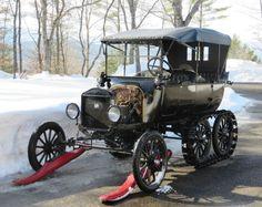 '19 Ford Model T Virgil White Snowmobile conversion. This looks so friggin fun.
