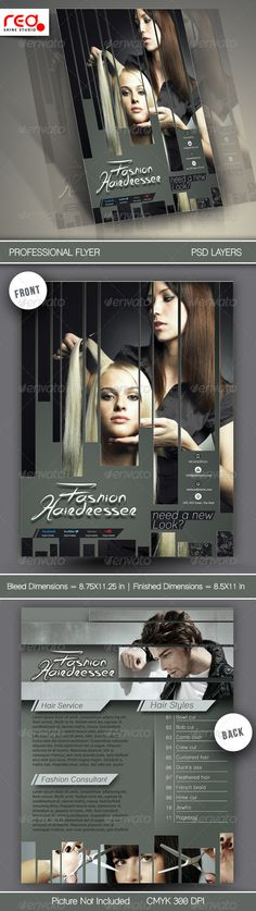 Hair Salons Flyer Template — Photoshop PSD #marketing #hair • Available here → https://graphicriver.net/item/hair-salons-flyer-template/6558950?ref=pxcr