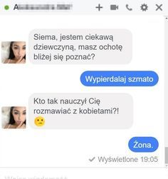22 rozmowy facebookowe i smsowe, które cię rozbawią – Demotywatory.pl Funny Sms, Funny Messages, Wtf Funny, Boys Vs Girls, Polish Memes, Great Memes, Everything And Nothing, I Laughed, Clever