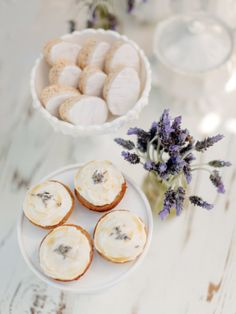 A touch of lavender on these desserts: http://www.stylemepretty.com/living/2015/04/17/lavender-inspired-french-countryside-luncheon/ | Photography: Steve Steinhardt - http://stevesteinhardt.com/