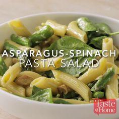 Asparagus Spinach Pasta Salad Recipe