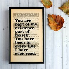 Great Expectations Part of My Existence Framed Print – Bookishly