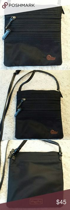 Dooney and Bourke Black Nylon /Leather Crossbody B Dooney and Bourke Black Nylon and Leather Crossbody Bag, 2 zippered pockets outside and Zippered Closure, Good condition Dooney and Bourke  Bags Crossbody Bags