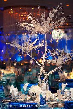 starry night wedding theme | Starry Night Wedding Reception Centerpiece.