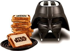 I command you to have breakfast with the dark side..... Darth Vader toaster $38.74  #darthvader #starwars #toaster