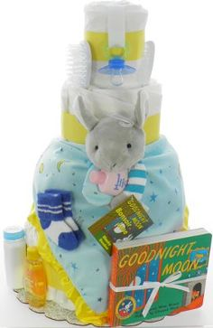 Good Night Moon Diaper Cake. I NEED this, even though I'm not having a baby.