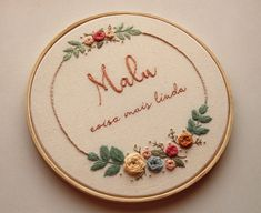 Hand Embroidery Patterns Flowers, Hand Embroidery Art, Cross Stitch Embroidery, Embroidery Designs, Diy Home Crafts, Handmade, Contemporary Embroidery, Monogram Alphabet, Hand Embroidery Patterns