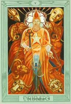 Thoth - Hierophant. My first deck from nearly 40 years ago.