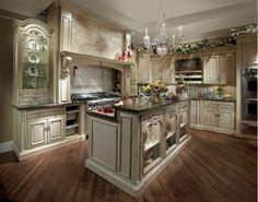 kücheneinrichtung englischer stil weißer küchenschrank korbmöbel ... | {Englische landhausküche blau 62}