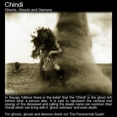 Chindi. Said to be the ghost that leaves the human body with a person's dying breath. Read more here: http://www.theparanormalguide.com/blog/chindi