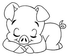 Animals Printable Coloring Pages 131 Animal Coloring Pages, Colouring Pages, Printable Coloring Pages, Coloring Pages For Kids, Coloring Books, Applique Patterns, Quilt Patterns, Cute Pigs, Digi Stamps