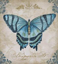 Bleu Papillon-d Painting