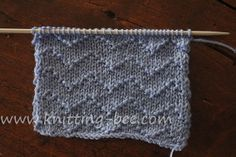 Chevron Zig Zag Lines Knitting Stitch