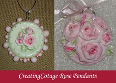 Shabby Chic Pendants by CreatingCottage