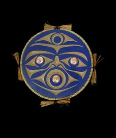These moon plaques designed by Noel Brown are the perfect addition to any home or office! We have one in blue and one in white for $410 each. Which one would look better in your home? #Firstnationsart #NorthwestCoast #AboriginalBC